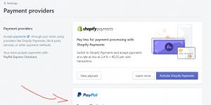 اضافة طرق الدفع في منصة شوبيفاي
